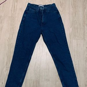 American Apparel Dark Denim High Waisted Jeans